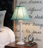 Beverly Studio Green Poly Cotton Table Lamp