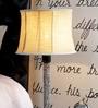 Yellow Khadi Lamp Shade by Beverly Studio