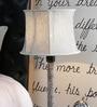 Blue Khadi Lamp Shade by Beverly Studio