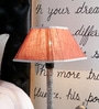 Red Poly Cotton Lamp Shade by Beverly Studio