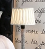White Poly Cotton Lamp Shade by Beverly Studio
