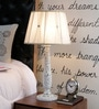 Beverly Studio White Fabric Table Lamp