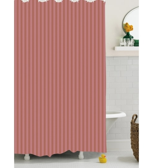 Bianca Reds Polyester 72 X 80 Shower Curtain 1 Pc
