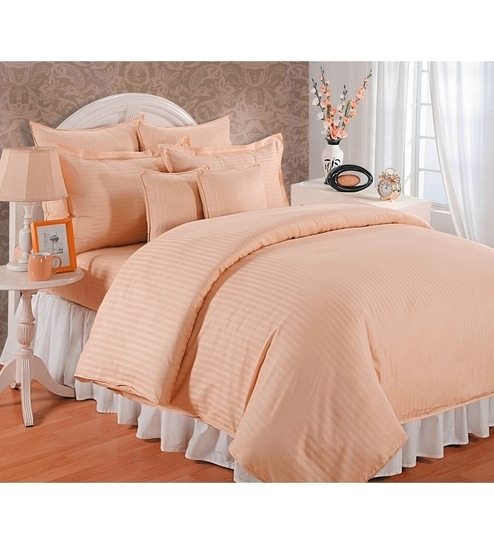 Nice Solid 300TC Cotton King Size Bed Sheet With 2 Pillow Covers By BIANCA