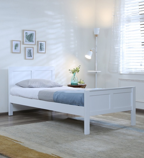 the latest 001b8 deb54 Bianca Solid Wood Single Bed in White Finish by Woodsworth