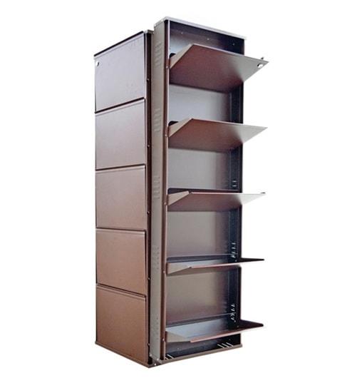 Biyani Metal Brown 5 Shelves Shoe Rack