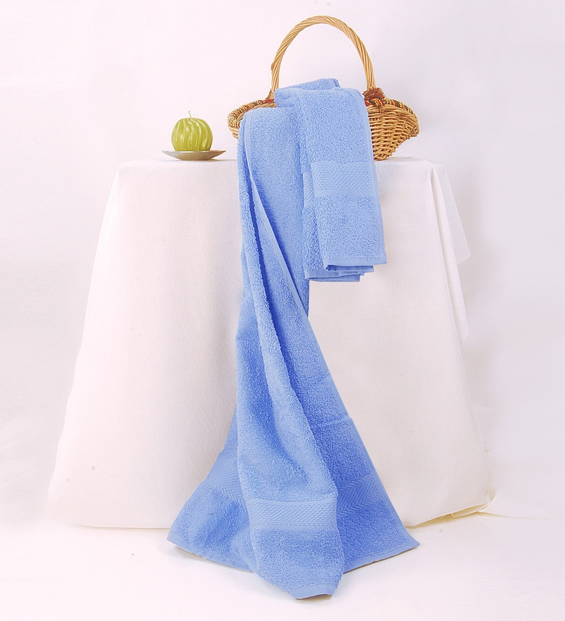 BIANCA Sky Blue Cotton Bath Towel