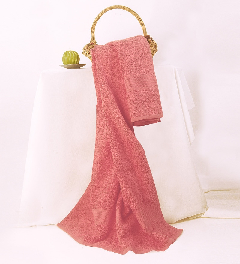 BIANCA Coral Cotton Bath Towel