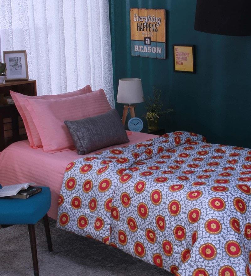 Bianca Multicolour Microfibre Single Size Reversible Comforter