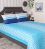 Blue 100% Cotton King Size Bedsheet - Set of 3 by BIANCA