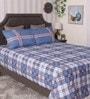 Bianca Blue 100% Cotton Queen Size Bedsheet - Set of 3