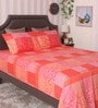 Coral 100% Cotton King Size Bedsheet - Set of 3 by BIANCA
