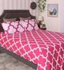 Bianca Magenta 100% Cotton King Size Bedsheet - Set of 3