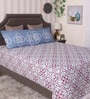 Bianca Multicolour 100% Cotton Queen Size Bedsheet - Set of 3
