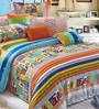 BIANCA Peek-A-Boo Single-Size Cotton Bedsheet in Red (Set of 2)