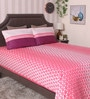 Pink 100% Cotton King Size Bedsheet - Set of 3 by BIANCA