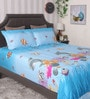 Sky Blue 100% Cotton Queen Size Bedsheet - Set of 3 by BIANCA