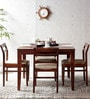 Bibiana Four Seater Dining Set in Honey Oak Finish by Woodsworth