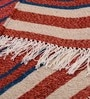 Carpet Overseas Multicolour Wool 41 x 59 Inch Stripes Design Dhurrie
