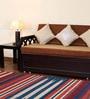 Carpet Overseas Multicolour Wool 52 x 72 Inch Stripes Design Dhurrie