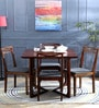 Binita Four Seater Dining Set in Honey Oak Finish by Woodsworth