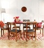 Binita Six Seater Dining Set in Provincial Teak Finish by Woodsworth