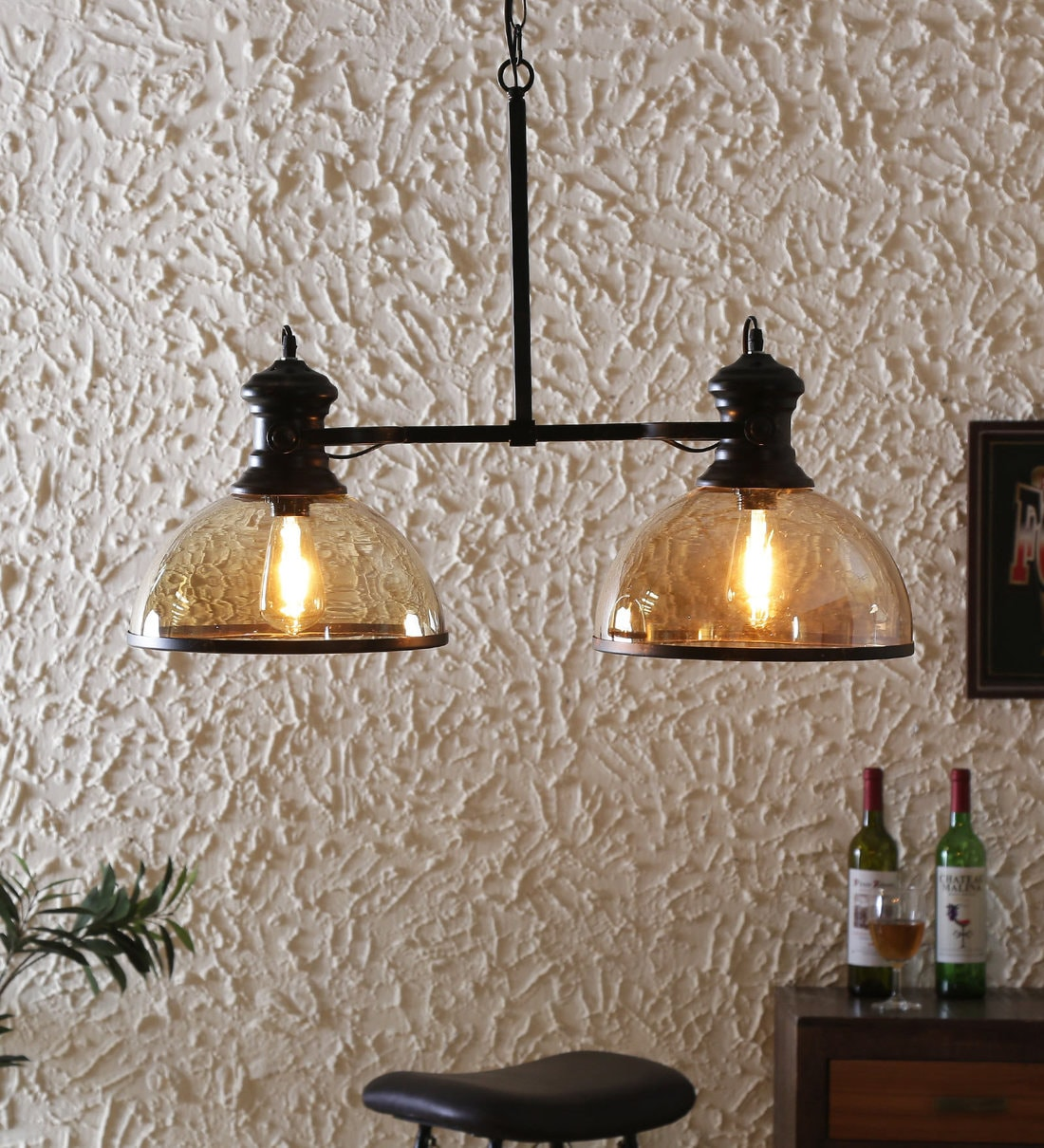 Buy Black Metal 2 Light Cluster Hanging Lights By Rustic India Online Contemporary Cluster Hanging Lights Ceiling Lights Lamps Lighting Pepperfry Product