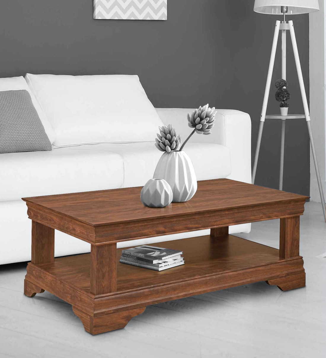 Buy Blake Center Table in Walnut Colour by @home Online ...