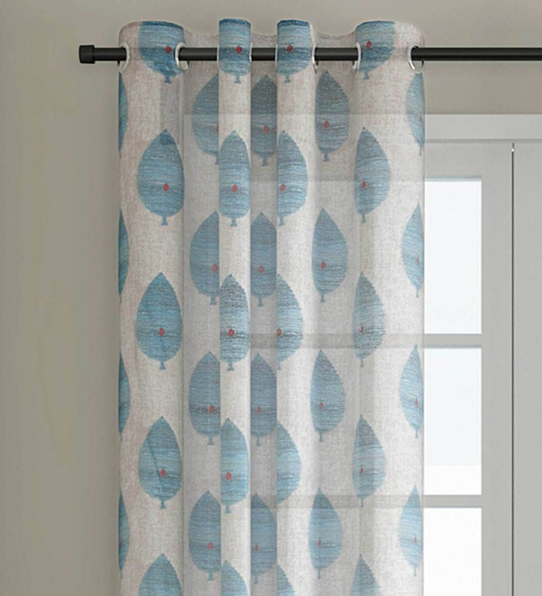 Buy Cotton Semisheer 5 Feet Eyelet Window Curtain By Soumya Online Abstract Curtains And Drapes Curtains And Drapes Furnishings Pepperfry Product