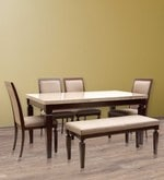 Bliss Marble Top Six Seater Dining Set