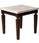 Bliss Side Table in Brown Finish