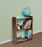 Blossom Medium Book Rack in Acacia Dark Matt Finish