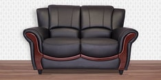 Blos Two Seater Sofa in Eerie Black Colour