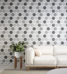 Black White Spotted Wallpaper Nilaya Wall Coverings