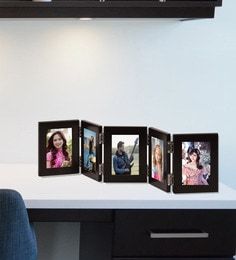 Black 35X 0.5X 9 Inch Quinary Picture Photo Frames With Glass Front