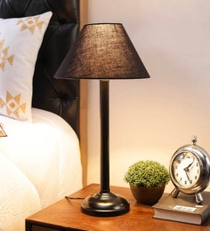 Black Cotton & Stiffener Table Lamp By New Era