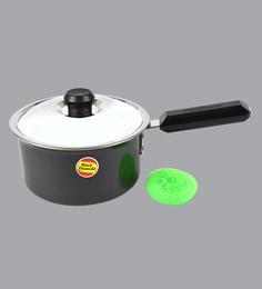 Black Diamond Hard Anodized & Aluminum Sauce Pan With Lid, 1800 ML(Free Scrubber)