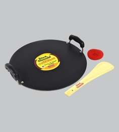 Black Diamond Non Stick Pathri Flat Tawa,13.5 Inch