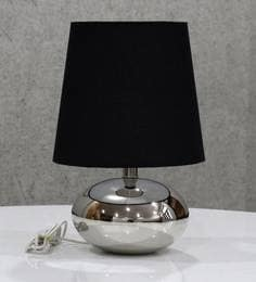 Buy contemporary table lamps online in india best prices pepperfry black handloom fabric with acrylic sheet table lamp aloadofball Choice Image