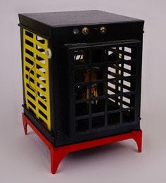 Black Metal Working Vintage Table Top Cooler Collectible