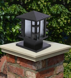 Black Mild Steel Outdoor Gate Light - 1614451