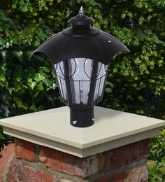 Black Mild Steel Outdoor Gate Light - 1614456