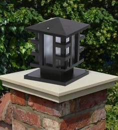 Black Mild Steel Outdoor Gate Light