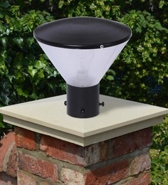 Black Mild Steel Outdoor Gate Light - 1614459