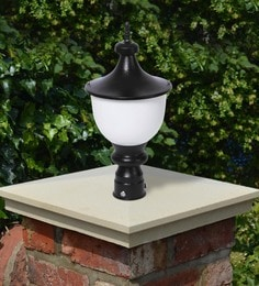 Black Mild Steel Outdoor Gate Light - 1614446