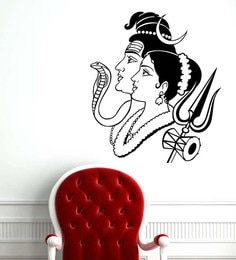 7802ee21a Buy Beautiful God Shiva on Kailash PVC Wall Sticker by Print Mantras ...