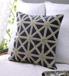 Blue White 100 Cotton Cushion Cover