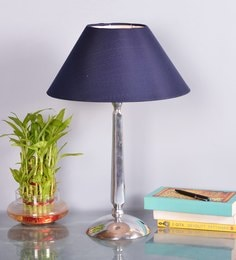 Blue Cotton Table Lamp