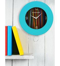 Blue MDF 12 X 12 Inch Rainbow Wall Clock