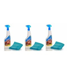 Blueoxy Leather Cleaner & Conditioner 500Ml Spray Bottle With One Microfiber Towel - Set Of 3
